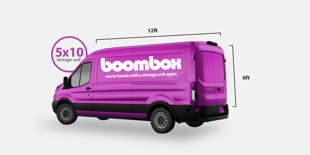 Boombox Storage. Fit it and we'll store it! Equivalent to a 5x10 storage unit. Get rid of unwanted clutter. Better price than Clutter, Omni, Trove, and Closetbox.
