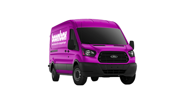 Boombox is a SF Bay Area full-service storage company managing the pick up, storage, and retrieval of your things. ✓ Book one of our purple vans today!