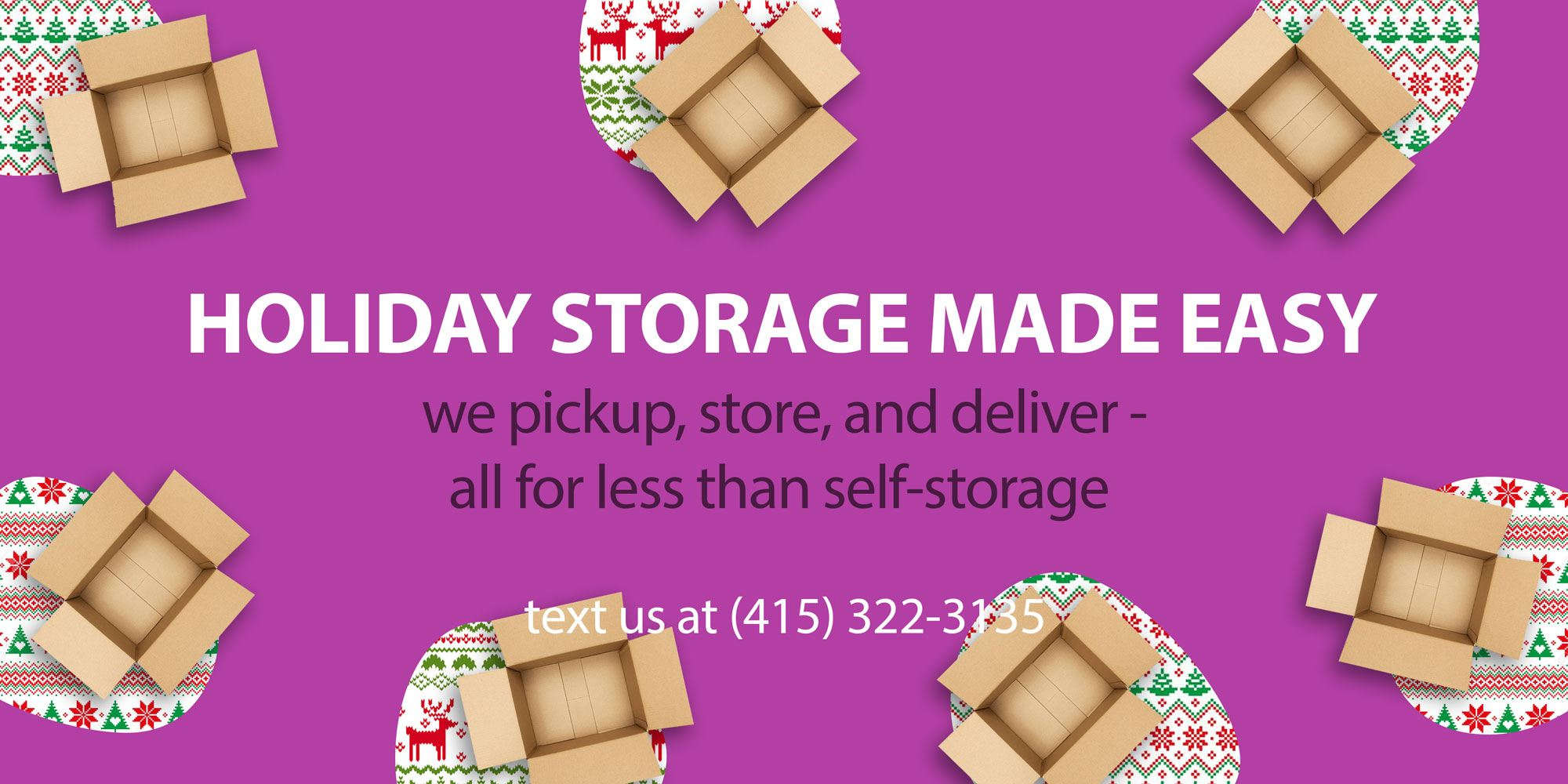 Holiday Storage san francisco self stoarge San Francisco Storage sf, Storage San Francisco. Boombox Storage banner-image. Get rid of clutter. Better rates than and Closetbox!